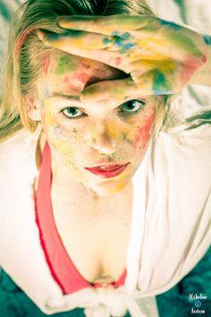 #halle #harz #thale #göttingen #shooting #model #girl #woman #frau #portrait #creative #color #paint #farbe #blond #longhair #german www.schmidt-fam.de