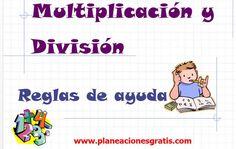 Multiplicación y División - Reglas de Ayuda