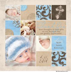 50 Best Photo Christening Baptism Thank You Cards Images Baptism
