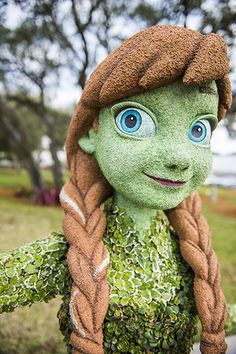 First Look at Anna & Elsa Topiaries for the Epcot International Flower & Garden Festival