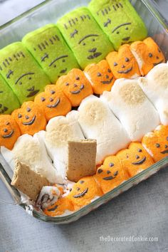 This Halloween s'mores dip needs only two ingredients, takes minutes to make, and is a super-fun Halloween party food idea. VIDEO