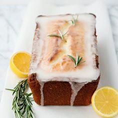 Lemon Rosemary Yogurt Cake by Baked Bree Just Desserts, Dessert Recipes, Dinner Recipes, Slow Cooker Desserts, Tasty, Yummy Food, No Bake Cake, Sweet Recipes, Healthy Recipes