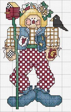Schema punto croce Espantapajaros