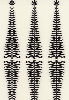 """""""Detail derived from one of nature's most graveful forms, Fern Tree.""""  (Kelly Wearstler fabric design for F. Schumacher)"""