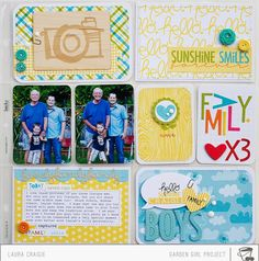 Paper Lulu: Bella Blvd Pocket Page / Project Life by Laura Craigie.