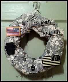 Military Wreath, Army, Navy, Air Force , Marines, Coast Guard, Military Retirement, Chinese Auction Items, Custom Unique Wreaths, Handmade Military Retirement Parties, Military Party, Army Party, Retirement Ideas, Military Wife, Army Wreath, Military Wreath, Door Wreath, Army Crafts