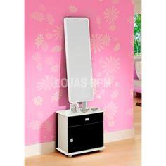Toucador Topázio - Móveis Primus - Acabamento UV Alto Brilho - Espelho - Gavetas R$189,90 10x de R$18,99 ou R$161,42 no Boleto ou Transferência
