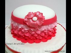 How to make An Ombre Rose Petal Cake - YouTube