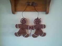 Mr & Mrs Gingy Hanging Decor by TurtleShackGifts on Etsy, $11.00