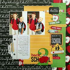 Back To School layout designed by Kelly Goree using our Smarty Pants collection