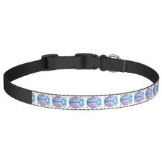 "Blue 3D ""Lil LuvBug"" w/Hearts Pet Collar"