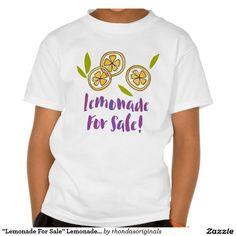 """Lemonade For Sale"" Lemonade Stand Kids' TS06 Shirts"