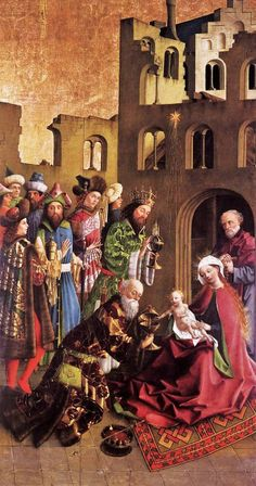 Unknown Master, German (active 1440s in the Middle Rhineland). Darmstadt Altarpiece The Epiphany