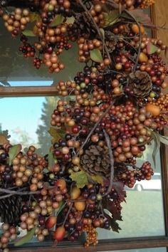 A lovely wreath - it might adorn the front door at Cinnamon Crest Cottage....