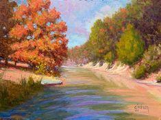 """Lost Maples Glory,"" Lost Maples State Natural Area, Vanderpool, Texas, 12 x 16 inches, Oil.  Artist, Guy Jackson.  www.guyjacksonart.com. Impressionist Art, Art Oil, Jackson, Guy, Texas, Lost, Contemporary, Natural, Artist"