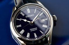 Seiko Presage SPB069 'Moonlit Night', with Seiko's first ever blue enamel dial