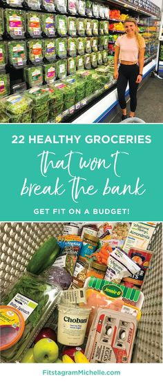 How to get fit on a budget! 24 Healthy groceries that won't break the bank. - How to get fit on a budget! 24 Healthy groceries that won't break the bank. Healthy Snacks To Buy, Healthy Groceries, Healthy Recipes On A Budget, Healthy Meal Prep, Budget Meals, Healthy Eating, Healthy Foods, Clean Eating, Eating Healthy On A Budget For One