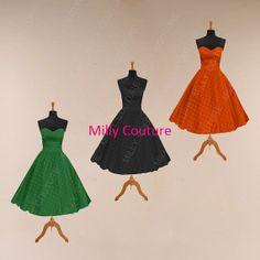 Tee Länge Brautjungfer Kleid schwarze Brautjungfer von MillyCouture, $109.00