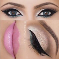Beautifully done eyeshadow paired with colored contacts for an eye-catching look.  I sure miss being able to wear colored contacts darn stigmatism!!!