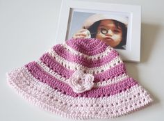 Pink hat  for child from 4 to 5 yrs crocheted by Notforeat, €18.00