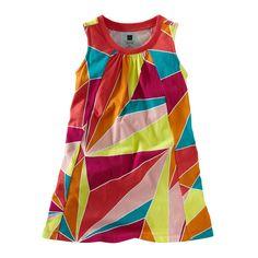TEA COLLECTION Girls Cotton Multi Colored Bo Kaap Trapeze Mini Dress 12…