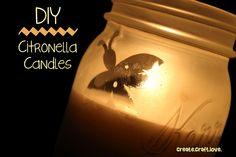 These DIY Citronella Candles will prevent you from being a mosquito blood bank! Citronella Essential Oil, Essential Oils, Make Your Own, Make It Yourself, Old Candles, Citronella Candles, Tiki Torches, Humming Bird Feeders, Scented Oils