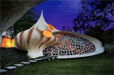 Nautilus House, 2006, Mexico City, by Javier Senosiain. 'Magical.