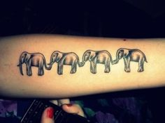 elephant tattoo!! thinking about it.... ;)  (cept, it's bad luck if the trunk is down. and i'd only have 1)