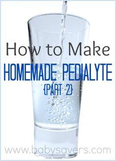 Pedialyte Recipe: How to Make Homemade Pedialyte