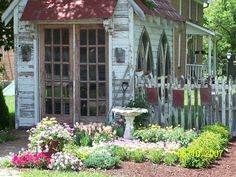 Love the lancet windows!Garden Shed, Amana Colonies, Iowa Amana Colonies, Places Ive Been, Places To Visit, Girl Cave, Garden Windows, Rain Garden, Greenhouse Gardening, Iowa, Wonders Of The World