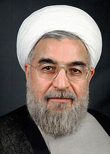 """Hassan Rouhani (aka Hassan Feridon) (1948 - ) is an Iranian politician, Mujtahid,,lawyer, academic and diplomat, who is currently the President of Iran.  In the later capacity, he was also heading Iran's former nuclear negotiating team. On 7 May 2013, Rouhani registered for the presidential election and said that, if elected, he will prepare a """"civil rights charter"""", restore the economy and improve rocky relations with the West. Considered a moderate in his views."""