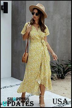 Wrap Front Dress, Maxi Wrap Dress, Floral Maxi Dress, Boho Dress, Bohemian Dresses, Boho Summer Dresses, Party Dresses For Women, Casual Dresses For Women, Dress Summer