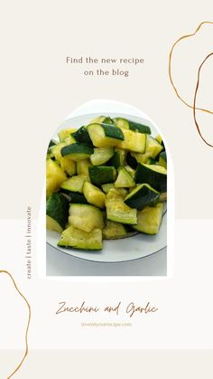Sautéed Zucchini with Garlic. Zucchini sautéed in extra virgin olive oil with garlic. Delicious, quick, healthy, and the perfect side dish. New Recipes, Favorite Recipes, Sauteed Zucchini, Food Website, Healthy Side Dishes, Vegetable Recipes, Vegan Vegetarian, Asparagus, Garlic
