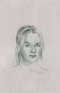 Kate Winslet drawing. Pencil on paper.