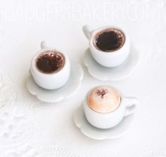 Playscale Coffee Cup, Cappuccino or Black Coffee Miniature, Dollhouse Mini, 1/6 BJD doll prop