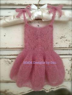 PDF Knitting Pattern  Newborn Mohair fairy dress by monkeymoomoo33