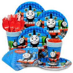 Check out Thomas Birthday Party Standard Tableware Kit Serves 8 - Wholesale Party Supplies from Wholesale Party Supplies