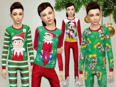 Sims 4 CC's - The Best: Christmas Pajama - Set by Lillka