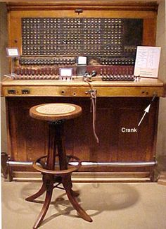 magneto switchboard..My Mom was a switchboard operator...my sister has her headset!