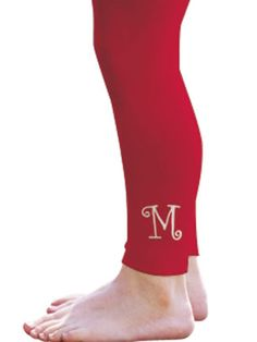 I never thought about monogramming leggings.
