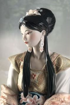 Lladro 08639 CHINESE BEAUTY (L.E.) handmade porcelain home decoration from spain http://lladro.stores.yahoo.net/0chbel.html