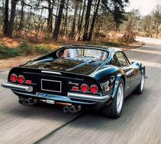 look at that back from hell, this Ferrari was produced in the name is 246 Dino GT. Ferrari Dino, Ferrari Car, Ferrari Laferrari, Maserati, Exotic Sports Cars, Classic Sports Cars, Exotic Cars, Retro Cars, Vintage Cars