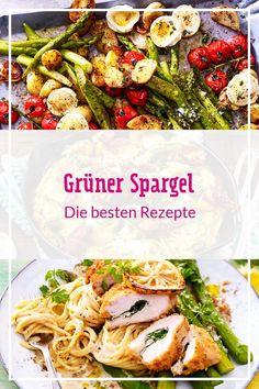 Das grüne Stangengemüse überzeugt in vielen Gerichten: ob als Salat, Suppe, Ofengemüse, in knuspriger Quiche oder als #Beilage zu #Fleisch und #Fisch. In unserer Auswahl findest du sicherlich dein Lieblingsrezept! #spargelrezepte #spargelzeit #spargel #pasta #quiche #rezepte #rezeptideen #kochen #suppenrezepte Quiche, Food, Cooking, Meat, Best Asparagus Recipe, Essen, Quiches, Meals, Yemek