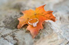 Auburn, Syracuse New York Engagement Fall Photography Session | Ring Shot + Close Up