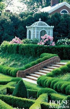 It's A Wonderful Palmetto Life Gazebo Pergola, Garden Gazebo, Garden Doors, Garden Steps, Garden Path, Boxwood Garden, Boxwood Topiary, Secret Garden Door, Fish Ponds