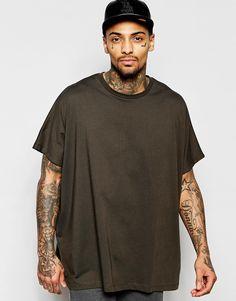 ASOS+Extreme+Oversized+T-Shirt+In+Khaki