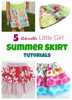 These are a few of my favorite little girls summer skirts tutorials and free…
