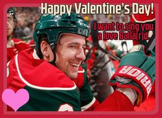 Minnesota Wild hockey. Plus, the cute little hearts.