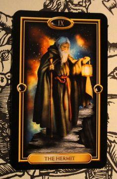 O Eremita do The Gilded Tarot - Leia sobre no CéudoDia http://ceudodia.weebly.com/tarocirc.html#
