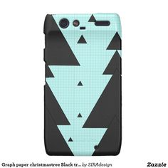Graph paper christmastree Black triangle Motorola Droid RAZR Cover